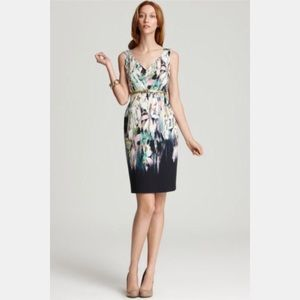 Elie Tahari Camellia Dress in Oceanic, Size 12